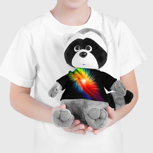 Енотик в футболке 3D Звезда радуга Фото 01