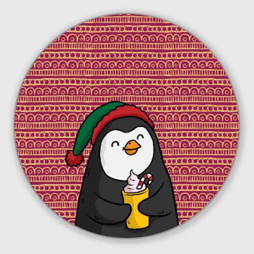 Коврик для мышки круглый Пингвиня Фото 01