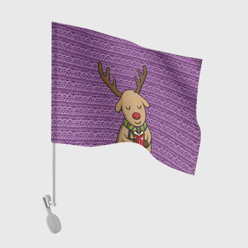 Флаг для автомобиля  Фото 01, Счастливый олень