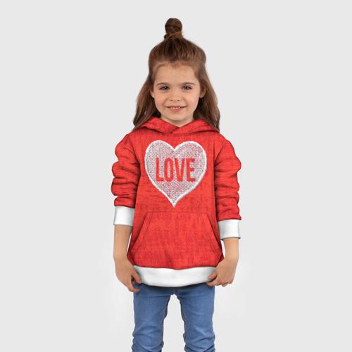Детская толстовка 3D  Фото 01, Love