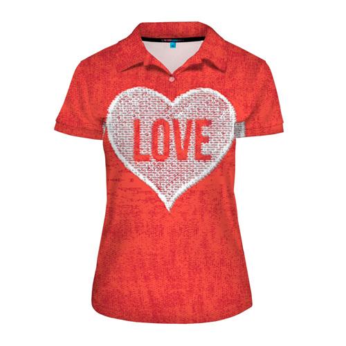 Женская рубашка поло 3D  Фото 01, Love