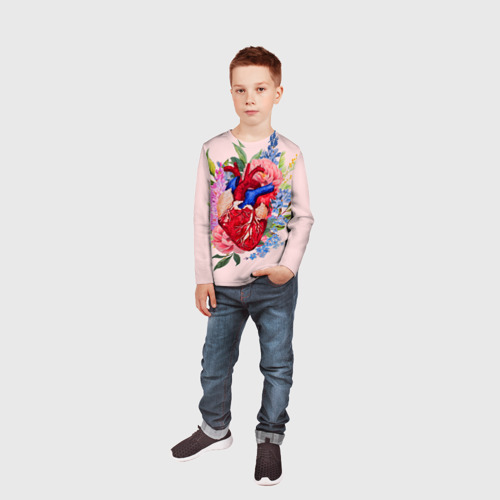 Детский лонгслив 3D  Фото 04, Cердечко
