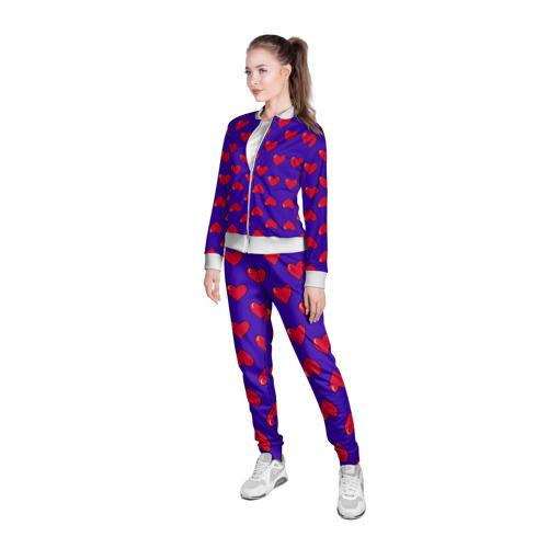 Женская олимпийка 3D  Фото 05, Пиксельная любовь