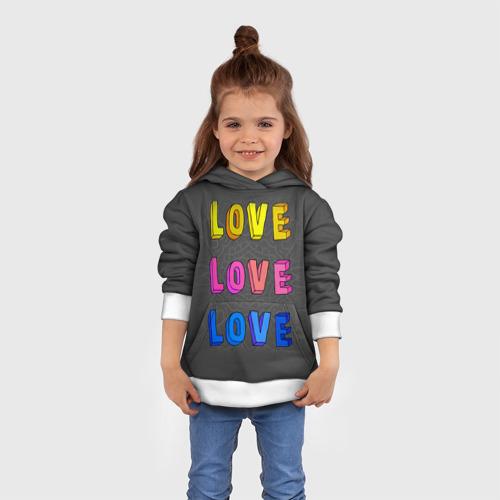 Детская толстовка 3D  Фото 01, Love Love Love