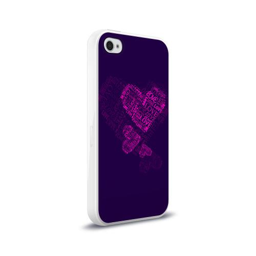 Чехол для Apple iPhone 4/4S силиконовый глянцевый  Фото 02, Облака любви