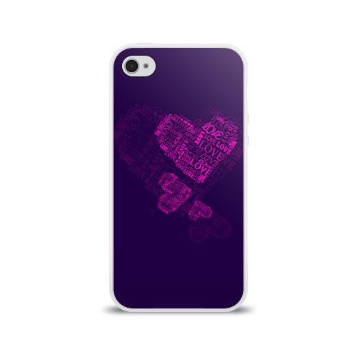 Чехол для Apple iPhone 4/4S силиконовый глянцевый  Фото 01, Облака любви