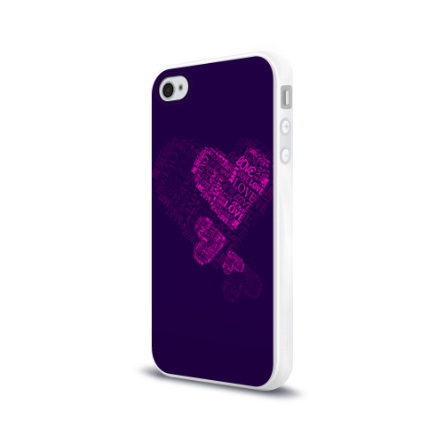 Чехол для Apple iPhone 4/4S силиконовый глянцевый  Фото 03, Облака любви