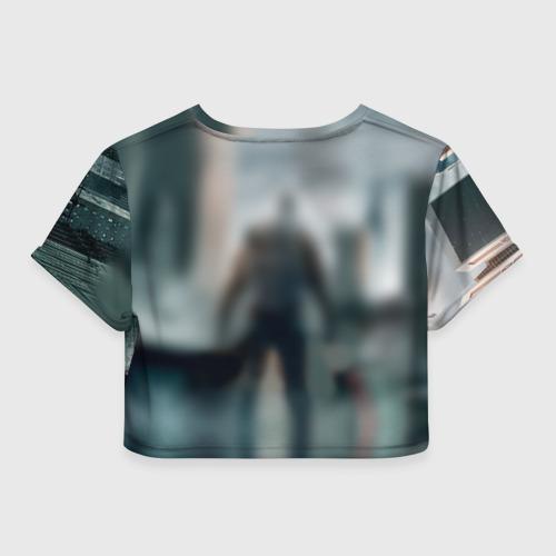 Женская футболка 3D укороченная  Фото 02, Division