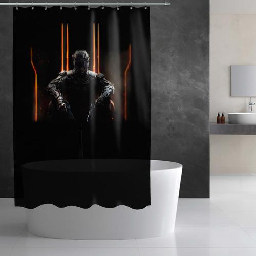 Штора 3D для ванной  Фото 03, Call of duty