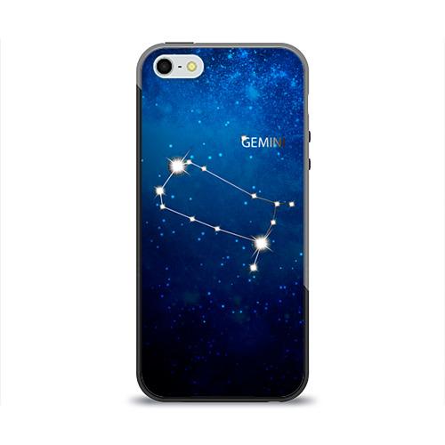 Чехол для Apple iPhone 5/5S силиконовый глянцевый Близнецы от Всемайки