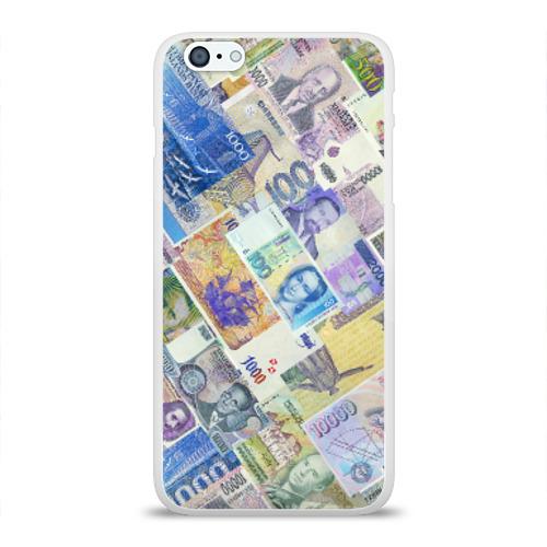 Чехол для Apple iPhone 6Plus/6SPlus силиконовый глянцевый  Фото 01, Денньги мира