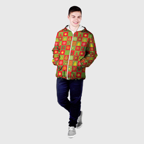 Мужская куртка 3D  Фото 03, Новогодний орнамент