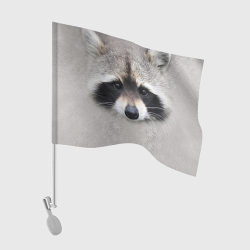 Флаг для автомобиля Енот Фото 01