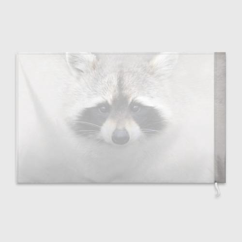 Флаг 3D Енот Фото 01