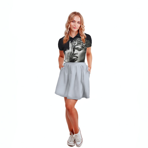 Женская рубашка поло 3D  Фото 04, Плохая девочка