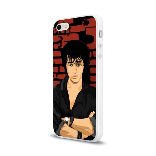 Чехол для Apple iPhone 5/5S силиконовый глянцевый  Фото 03, Виктор Цой