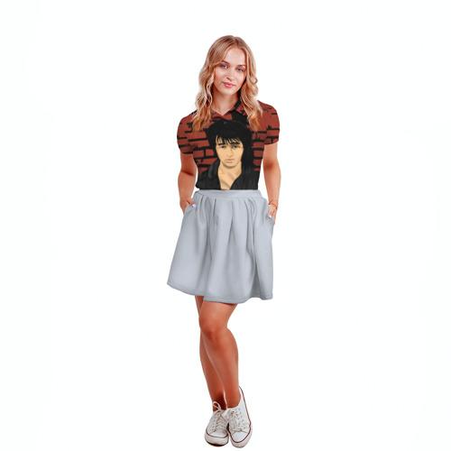 Женская рубашка поло 3D Виктор Цой Фото 01