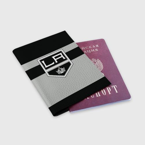 Обложка для паспорта матовая кожа  Фото 03, Los Angeles Kings