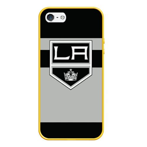Чехол для iPhone 5/5S матовый Los Angeles Kings Фото 01