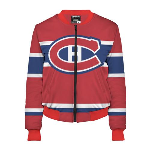 Женский бомбер 3D Montreal Canadiens