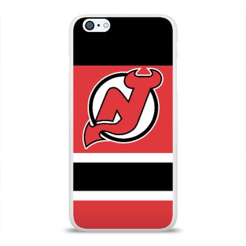 Чехол для Apple iPhone 6Plus/6SPlus силиконовый глянцевый  Фото 01, New Jersey Devils