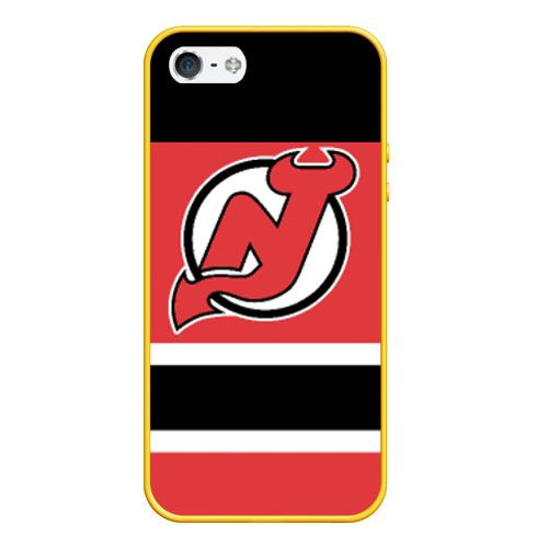 Чехол для iPhone 5/5S матовый New Jersey Devils Фото 01