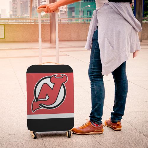 Чехол для чемодана 3D  Фото 04, New Jersey Devils