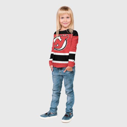 Детский лонгслив 3D  Фото 04, New Jersey Devils