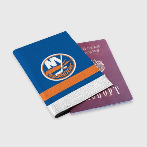 Обложка для паспорта матовая кожа  Фото 03, New York Islanders