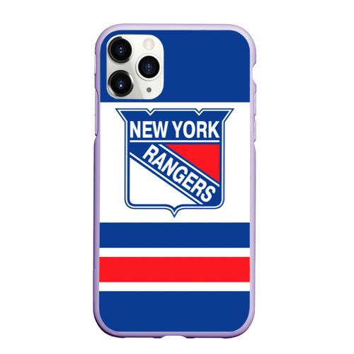 Чехол для iPhone 11 Pro Max матовый New York Rangers Фото 01