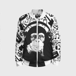Шимпанзе в наушниках