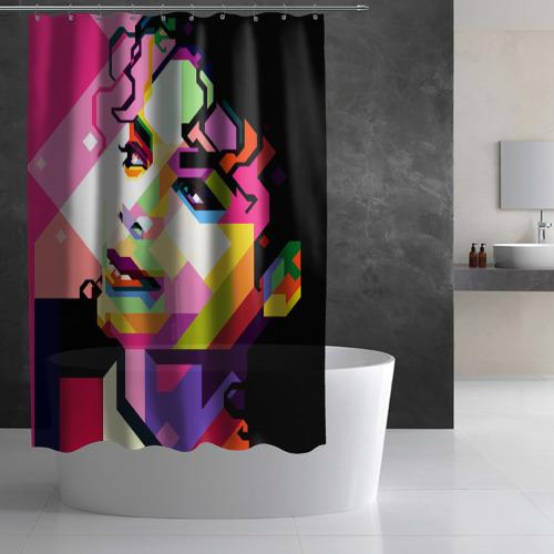Штора 3D для ванной Майкл Джексон Фото 01
