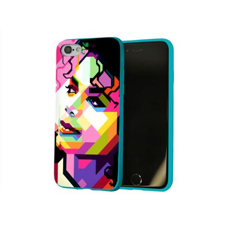 Чехол для Apple iPhone 8 силиконовый глянцевый Майкл Джексон Фото 01