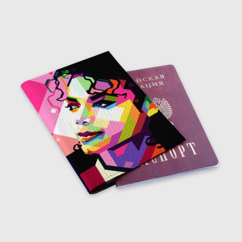 Обложка для паспорта матовая кожа Майкл Джексон Фото 01