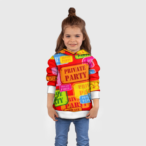 Детская толстовка 3D Private party