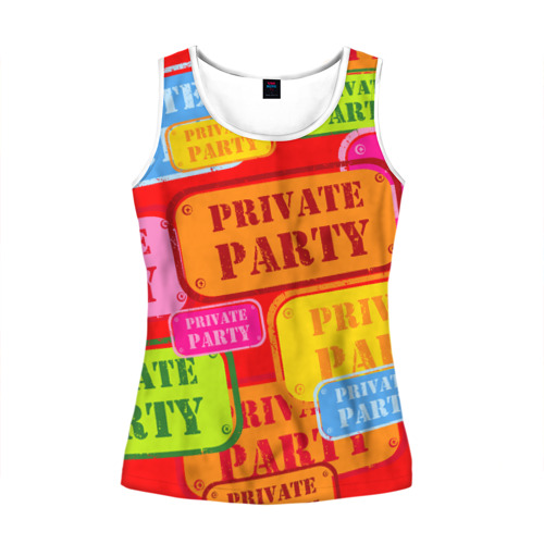 Женская майка 3D Private party