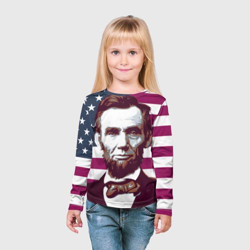 Детский лонгслив 3D  Фото 03, Авраам Линкольн