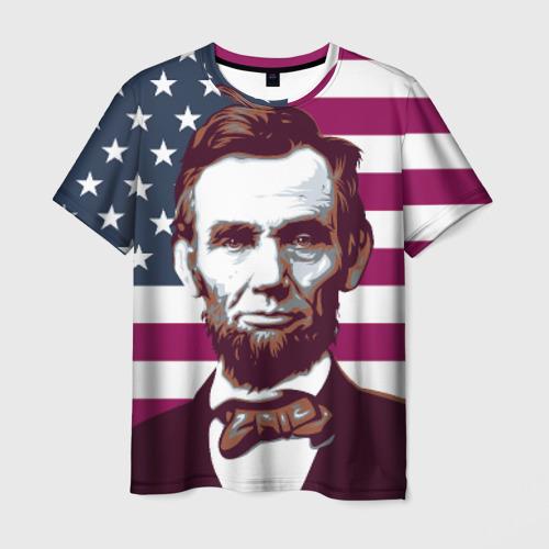 Мужская футболка 3D  Фото 03, Авраам Линкольн