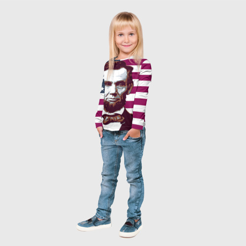 Детский лонгслив 3D  Фото 04, Авраам Линкольн