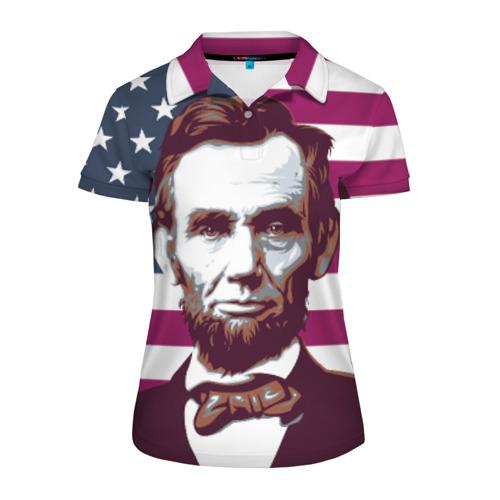 Женская рубашка поло 3D Авраам Линкольн
