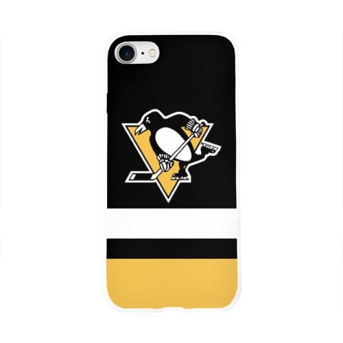 Чехол для Apple iPhone 8 силиконовый глянцевый  Фото 01, Pittsburgh Penguins