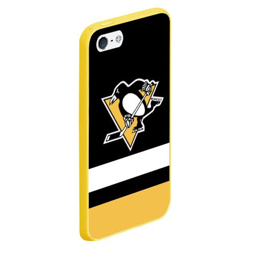 Чехол для iPhone 5/5S матовый Pittsburgh Penguins Фото 01