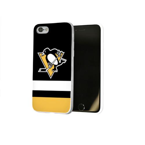 Чехол для Apple iPhone 8 силиконовый глянцевый  Фото 02, Pittsburgh Penguins