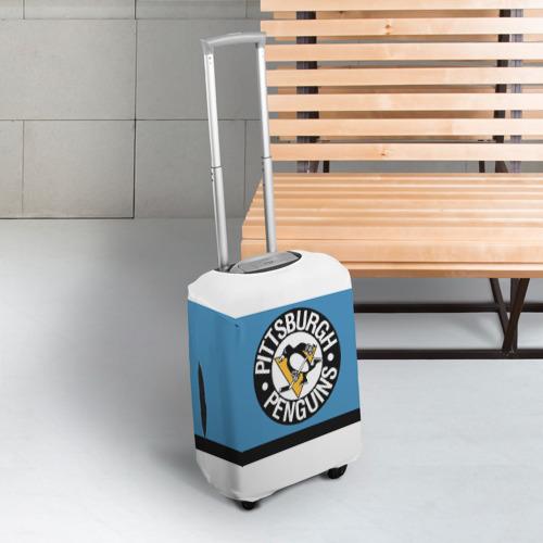 Чехол для чемодана 3D  Фото 03, Pittsburgh Penguins blue