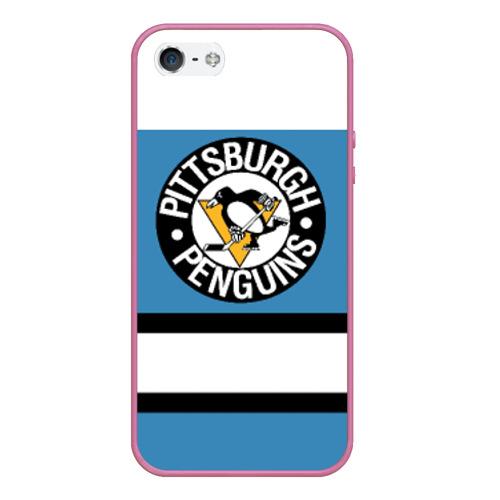 Чехол для iPhone 5/5S матовый Pittsburgh Penguins blue Фото 01
