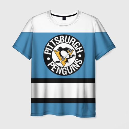 Мужская футболка 3D Pittsburgh Penguins blue