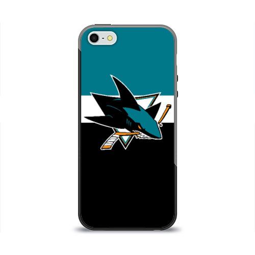 Чехол для Apple iPhone 5/5S силиконовый глянцевый San Jose Sharks от Всемайки