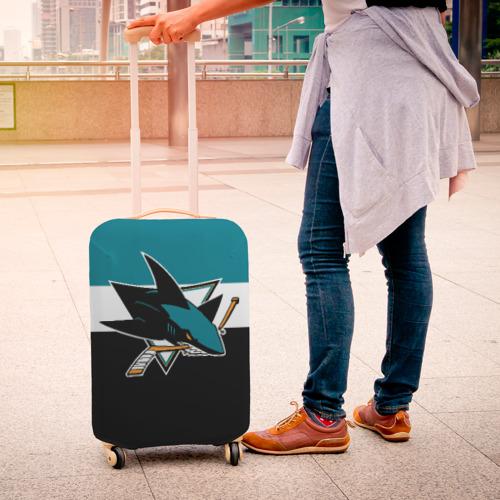 Чехол для чемодана 3D  Фото 04, San Jose Sharks
