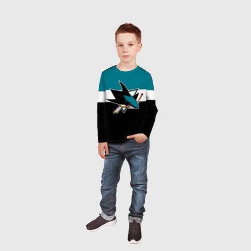 Детский лонгслив 3D  Фото 05, San Jose Sharks