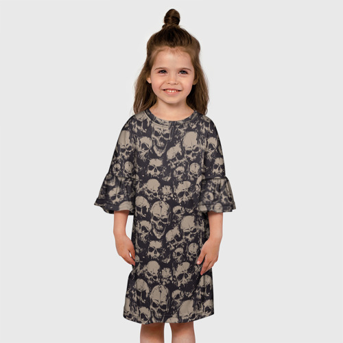 Детское платье 3D  Фото 01, Черепа